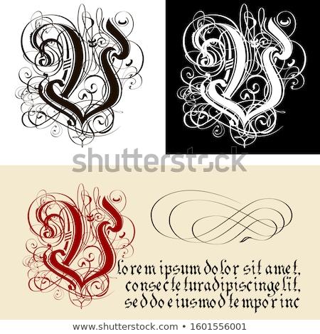 Decorativo gótico carta caligrafia vetor eps8 Foto stock © mechanik