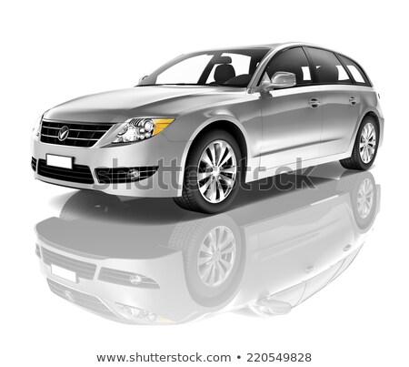 Estate Car Isolated on White Background, Vehicle Stock photo © robuart