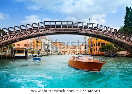 Köprü Venedik resim kanal gün batımı İtalya Stok fotoğraf © artjazz