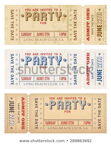 Line ticket templates - set of vector elements Stock photo © Decorwithme