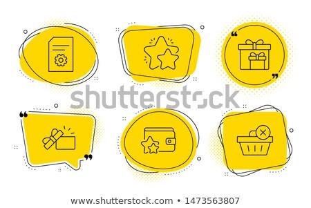 Loyalty Program Line Icons Set Stock photo © -TAlex-