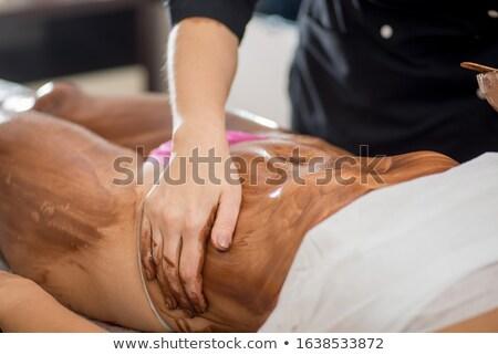 Schokolade spa Körper Massage Masseurin Client Stock foto © robuart