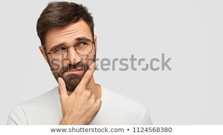 Tiro guapo barbado joven barbilla Foto stock © vkstudio