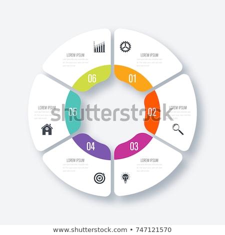 Absztrakt üzlet infografika sablon lehetőségek színes Stock fotó © ukasz_hampel