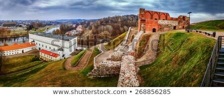 ヴィルニアス 城 複雑な リトアニア 丘 市 ストックフォト © borisb17