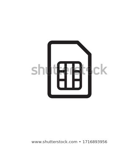 Ricordo carta icona vettore contorno illustrazione Foto d'archivio © pikepicture