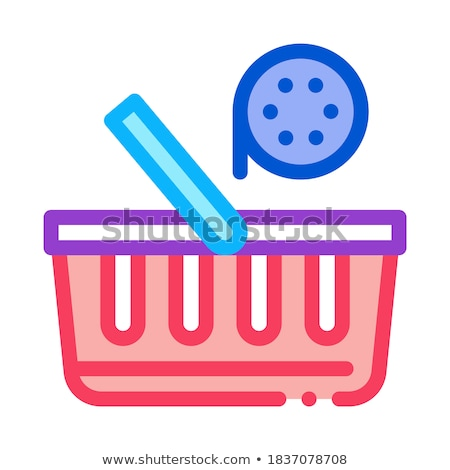 buying discs icon vector outline illustration Stock photo © pikepicture