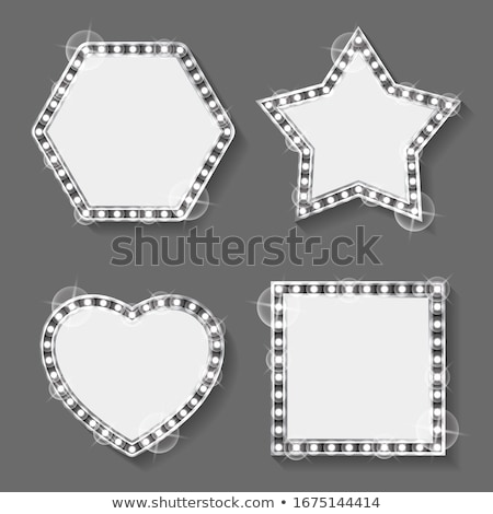 Silver Frames, Star and Heart, Square and Hexagon Stock photo © robuart