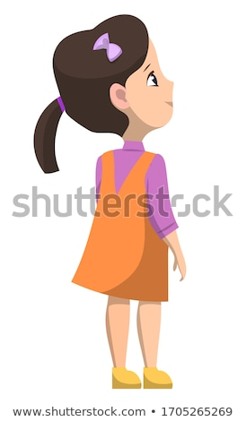 Schoolgirl Standing Alone, Back to School Concept Stock photo © robuart