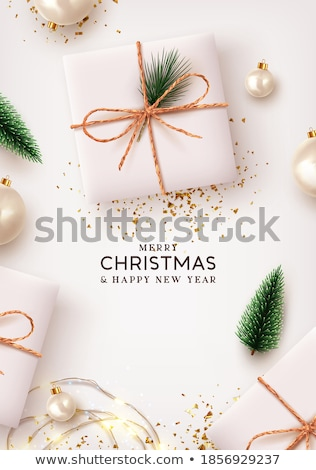 白 ツリー 緑 松 ふすま ストックフォト © ShustrikS