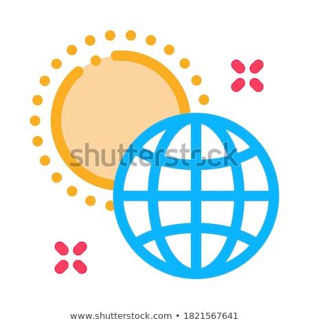 вращение земле вокруг солнце икона вектора Сток-фото © pikepicture