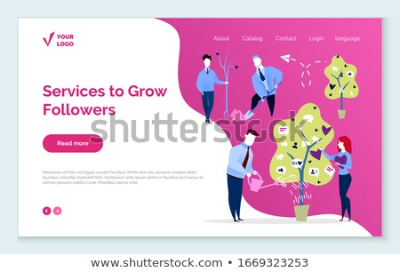 Services to Grow Followers and Likes in Media Stock photo © robuart