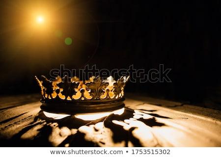 Corona trono ilustración oro rey ricos Foto stock © adrenalina