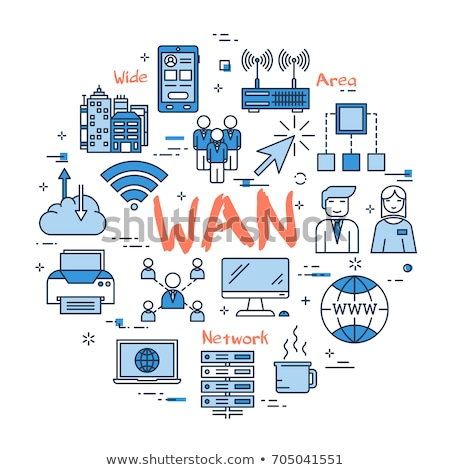 Wide Area Network, WAN Concept Illustration Stock photo © make