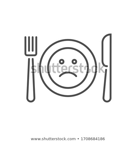 Loss of appetite related vector thin line icon Stock photo © smoki