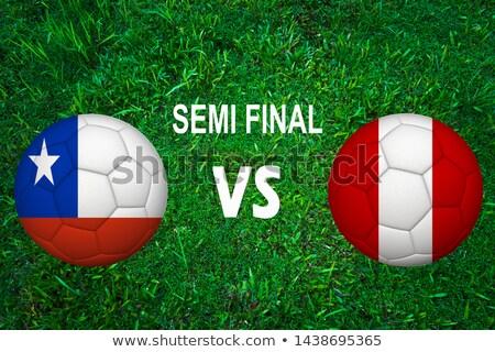 Chile vs Peru futebol combinar ilustração Foto stock © olira