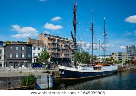 Ship moored in Willemdock in Antwerp, Belgium, Europe Stock photo © dmitry_rukhlenko