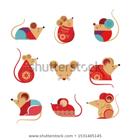 vector set of pig and rat Stock photo © olllikeballoon