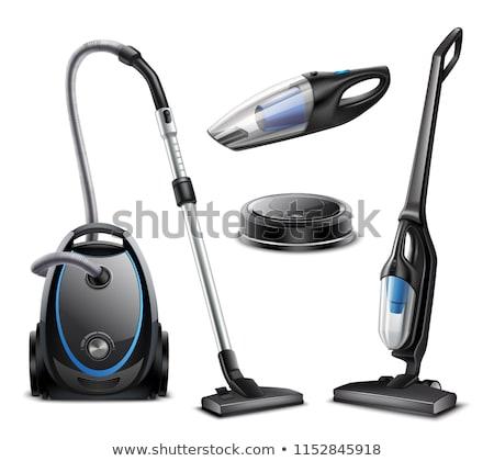 Vektör ayarlamak elektrikli süpürge ev temizlemek çizim Stok fotoğraf © olllikeballoon