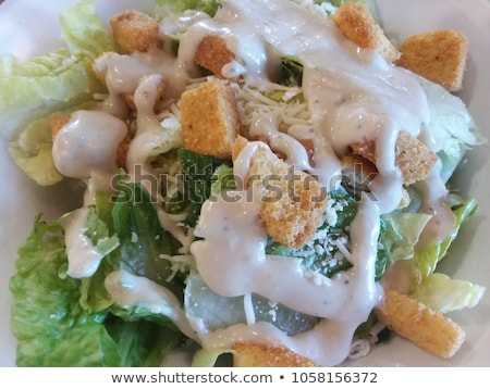 Delicious and simple ceasar salad Stock photo © Peteer