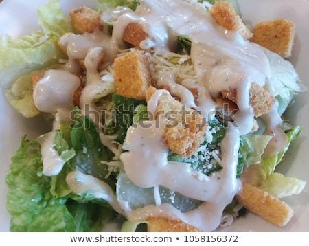 Delicioso simples salada orgânico bio curativo Foto stock © Peteer