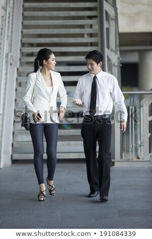 People man and Woman Discussing Sales and Trades Stock photo © robuart