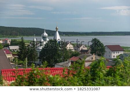 表示 ベラルーシ 市 城 丘 風景 ストックフォト © borisb17