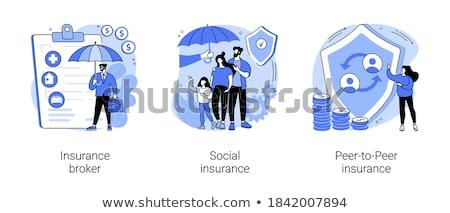 Peer to peer insurance vector concept metaphor Stock photo © RAStudio