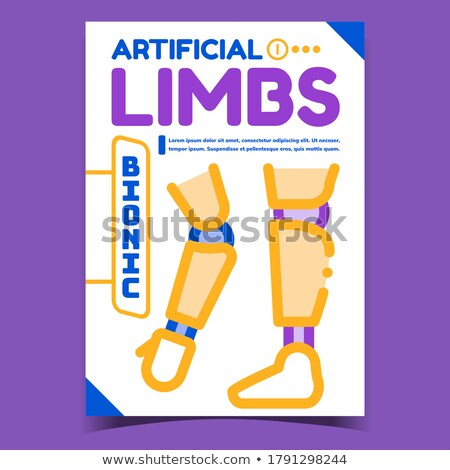 Artificial Bionic Limbs Advertising Poster Vector Stock photo © pikepicture
