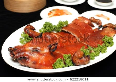 поросенок · барбекю · полный · Вьетнам · обеда · магазин - Сток-фото © fyletto