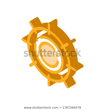 Scorching Sun isometric icon vector illustration Stock photo © pikepicture