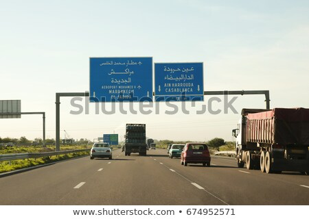 morocco highway sign stock photo © kbuntu