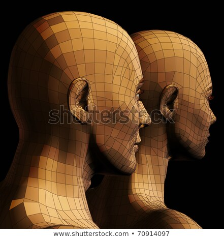 Drót keret pár arc orvosi csók Stock fotó © Paha_L