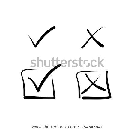 Comprobar cuadro pluma elegir decisiones escuela Foto stock © romvo