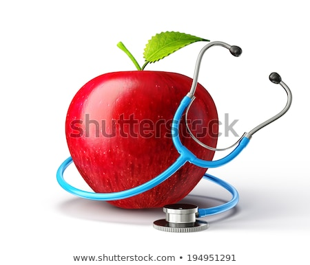 doctor examining an apple with a stethoscope Stock photo © photography33