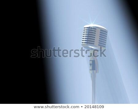 vintage · atención · micrófono · música · espacio - foto stock © UPimages