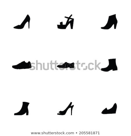 Nine shoes silhouettes stock photo © lkeskinen