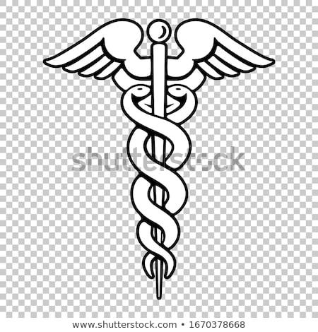Asclepius icons Stock photo © lkeskinen