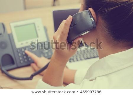 para · cima · telefone · retro · preto · telefone · negócio - foto stock © ruigsantos