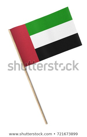 miniatura · banderą · Emiraty · Arabskie · odizolowany · Emiraty - zdjęcia stock © bosphorus