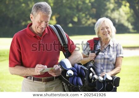 pár · élvezi · játék · golf · férfi · sport - stock fotó © photography33
