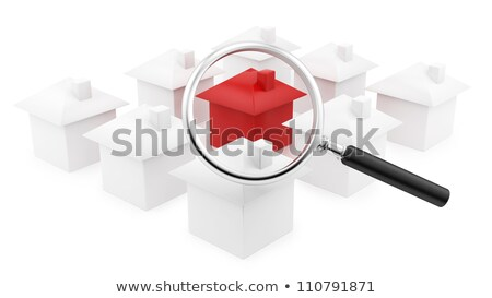 Red House under the magnifying glass  Stock photo © rufous