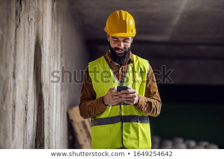 Construction worker on the phone Stock photo © photography33