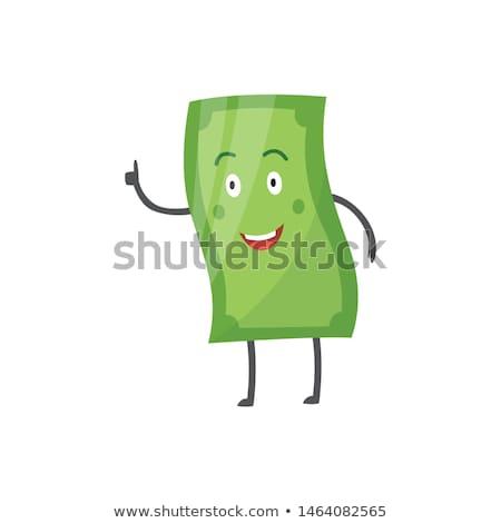 Papier gezicht dollarteken business Stockfoto © devon
