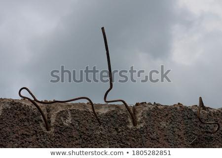 Sucia edad abandonado concretas base industrial Foto stock © RuslanOmega