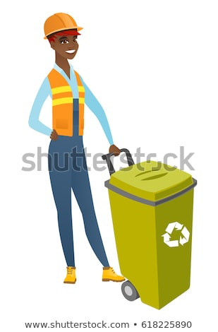 female builder with recyclable waste stock photo © photography33
