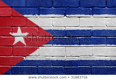 Flag of Cuba on brick wall stock photo © creisinger