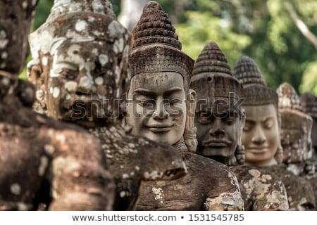 Templo angkor Camboja água céu edifício Foto stock © ldambies