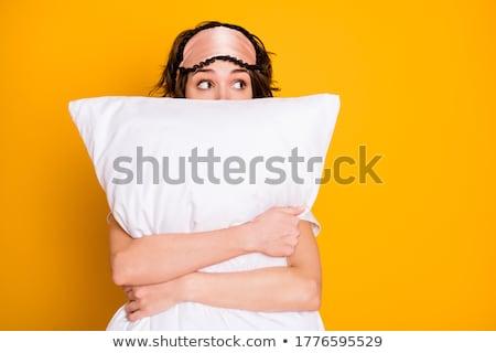 portrait of a woman wearing a sleeping mask stock photo © dashapetrenko