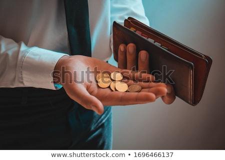 erkek · el · boş · cüzdan · yalıtılmış · beyaz - stok fotoğraf © photography33